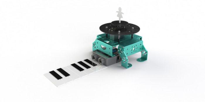Air Piano Music Playing Robot