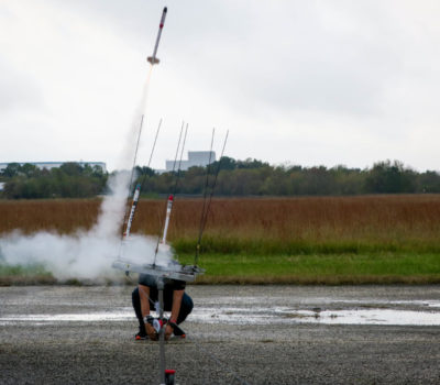 rocket launch at nasa